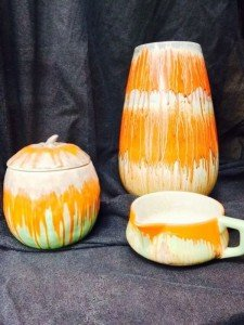 orange ceramic items