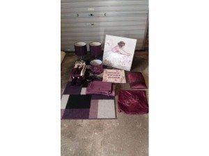 purple home accessories