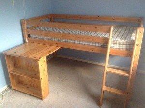 wood high sleeper single bed