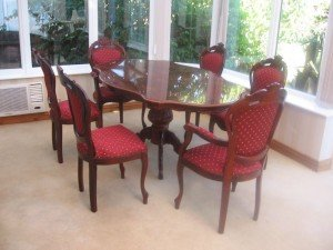 carved mahogany dining table