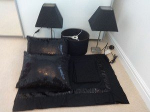 black bedroom accessories