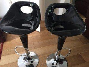 acrylic spin bar stools