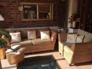 wicker conservatory set