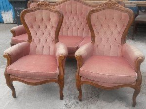 French sofa suite