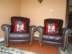 Chesterfield armchairs