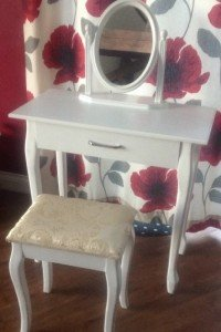 wooden white dresser