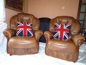 Chesterfield club chairs