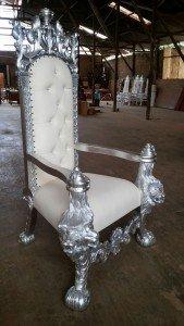 wooden throne chair