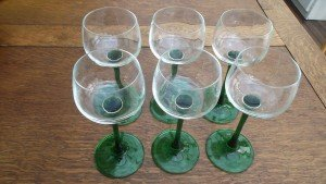 French Hock wine glasses