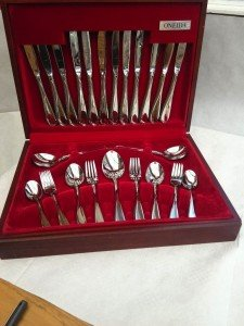 44 Piece silver cutlery set