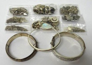 Mostly silver jewellery