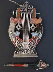 agate set Scottish brooch