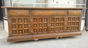 antique carved sideboard