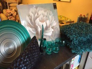 teal home decor