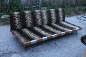 wooden base lounge sofa