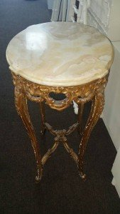 gilt wood base table