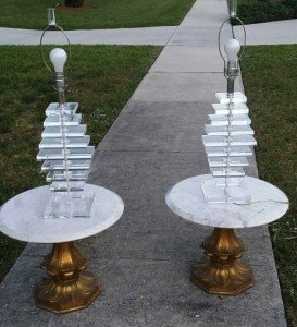 gilt wood side tables