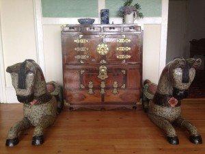 wood side cabinet