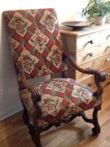 mahogany arm chair
