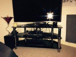 silver surround television