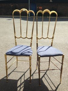 brass dining chairs