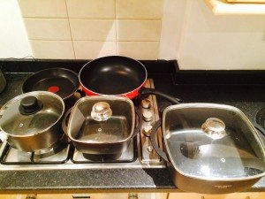 five pans