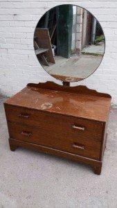 solid oak vanity drawers