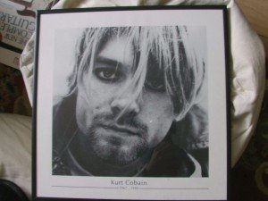 print of Kurt Cobain