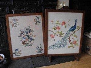 framed fire screens