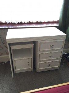 painted vanity desk