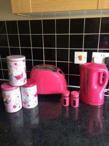 pink kitchen accessories