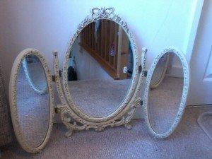 bi folding vanity mirror