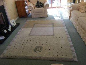 vintage floor rug