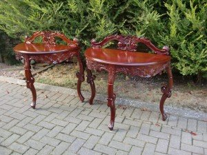 half moon console tables