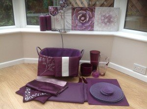 purple living room accessories