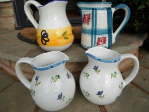 vintage ceramic water jugs