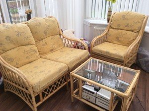 wicker conservatory suite