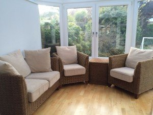 wicker conservatory set
