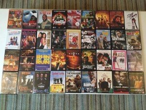 over thirty DVD's