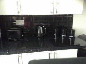 black kitchen accessories