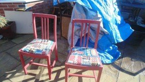 hand painted dining chairs
