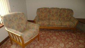 wooden base sofa