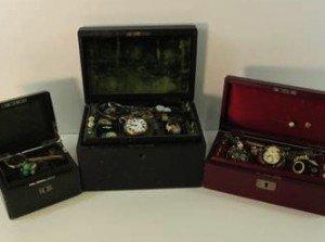 three boxes of jewellery