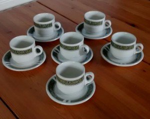 hand painted teacups