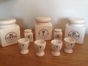 ceramic kitchen accessory set