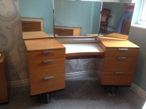wooden stag dressing table