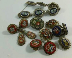 collection of micro mosaic jewellery