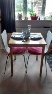 square bistro dining table