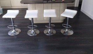 chrome swivel bar chairs