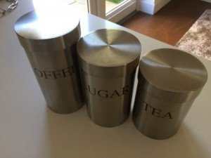 coffee and sugar canister